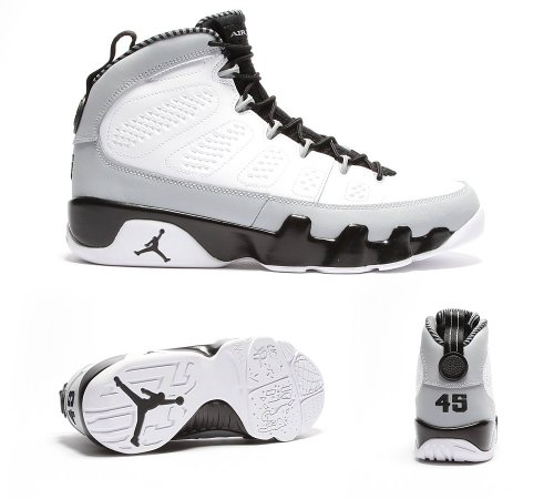 d054e0b340b2 Galleon - Jordan Air 9 Retro Birmingham Barons (GS) Big Kids Basketball  Shoes White Black-Wolf Grey 302359-116 (5.5 M US)