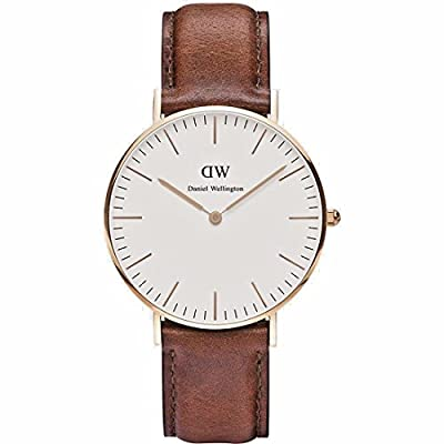 0507DW Daniel Wellington Women's Classic St. Mawes Stainless Steel Watch with Brown Band