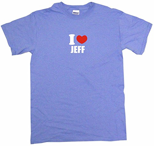 I Heart Love Jeff Big Boy's Kids Tee Shirt Youth XL-Light Blue