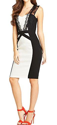 Zweifarbiges Kleid und Spitze