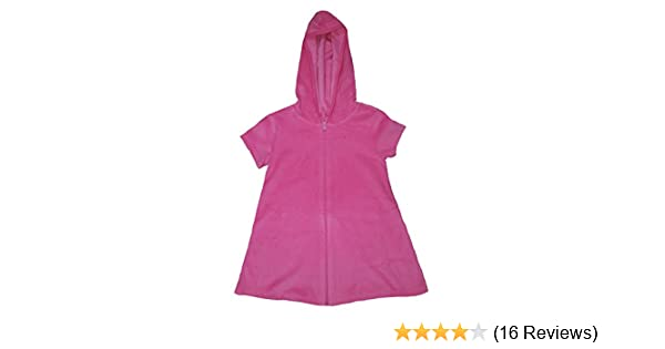 655de592c8cf6 Amazon.com: Op Girls Terry Hooded Swimsuit Cover Up (Extra Small 4-5, Pink  Sizzle): Clothing