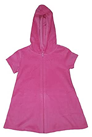 Op Girls Terry Hooded Swimsuit Cover Up (Extra Small 4-5, Pink Sizzle)