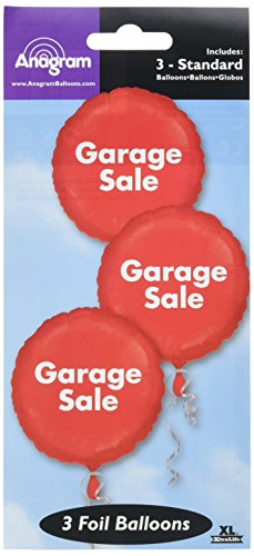 Anagram International 1690501 3 Count Pop Garage Sale Bunch Packed Balloons, 18
