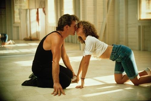 Dirty Dancing Patrick Swayze Kiss Movie Poster Master Print by Unknown