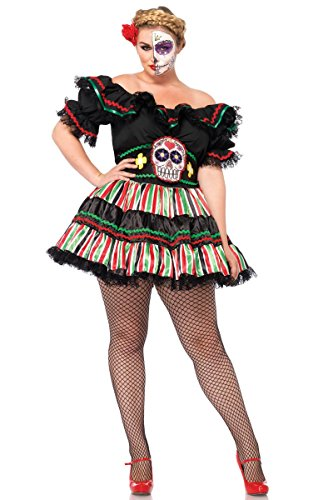 [Day of the Dead Doll Adult Costume - Plus Size 1X/2X] (Day Of The Dead Doll Costumes)