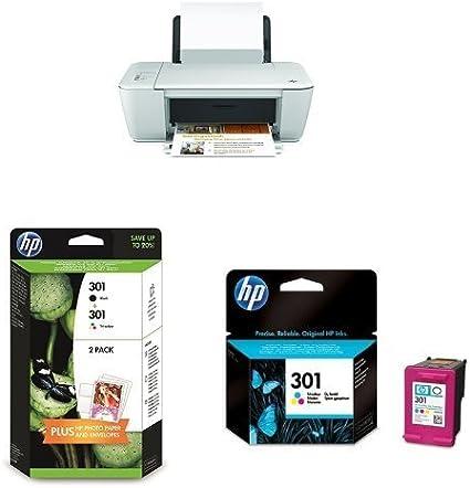 HP Deskjet 1510 AiO Pack - Impresora multifunción de Tinta + Pack de Ahorro de 2 Cartuchos de Tinta Original XL, Negro y Tricolor (Cian, Magenta y Amarillo) (301): Amazon.es: Informática