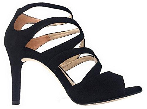 Unisa Wence KS Black, Sandalias de vestir para mujer, 35