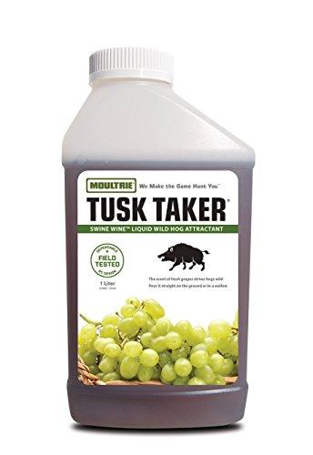 Wild Boar Hogs - Moultrie Tusk Taker Swine Wine Liquid Wild Hog Attractant, 32 fl. oz.