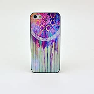 YXF Feathers Watercolors Bells Pattern Hard Back Case for iPhone 5/5S