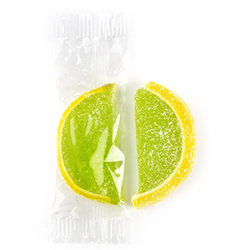 Jelly Fruit Slices - Oh! Nuts (Lemon Lime, Green & Yellow, 24 Individually Wrapped pieces)]()