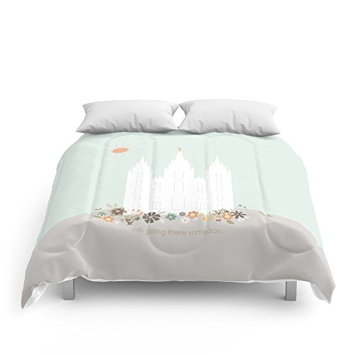 Society6 Salt Lake City Utah Temple Print - Lulu Comforters Full: 79