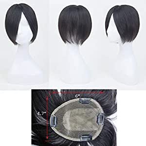 Lyrical Hair UAE A-4 Model hair topper real human hair with having four clips to ensure comfort while wearing style and cut naturally