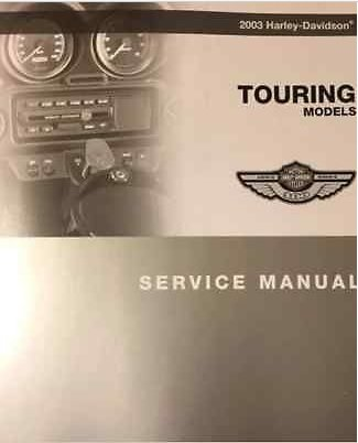 2003 Harley Davidson Touring Service Manual W Electrical & Parts & Owners Guide