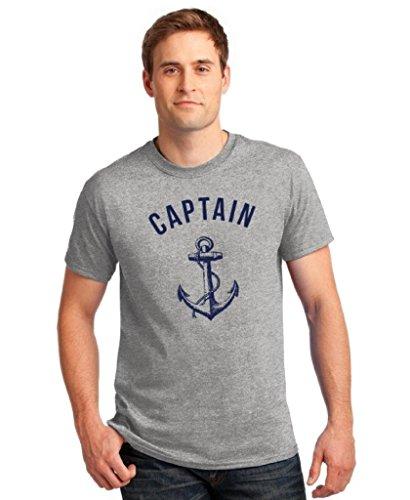 icustomworld Captain T-shirt Navy Anchor Summer Maritime Shirt