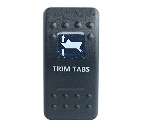 Boat Marine Trim (Bandc waterproof Car Boat Blue Led 7 pin MOMENTARY ON / OFF / MOMENTARY ON Dpdt TRIM TABS Rocker Switch)
