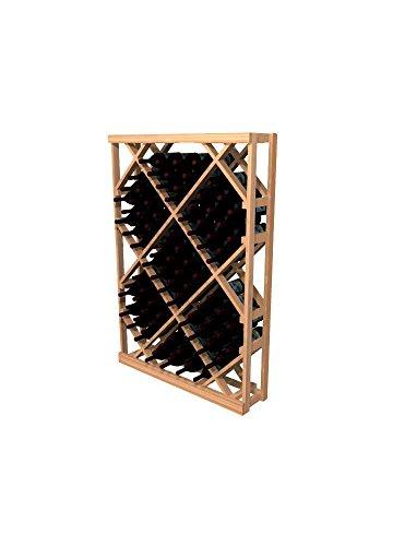 WineMaker Series Wine Rack - Open Diamond Bin - 4 Ft - Premium Redwood Classic Mahogany (Diamond Bin Wine Rack)