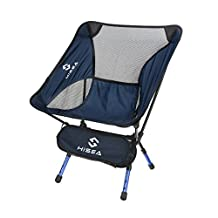 Hisea Lightweight Outdoor Folding Chair – Heavy duty, Anti-Sink, Portable, Durable Sport Chairs for Camping Beach Hiking Kayaking Fishing Hunting BBQ Picnic Backpacking