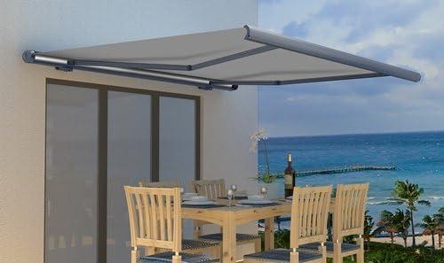 TrendLine - Toldo enrollable eléctrico de aluminio, 400 cm x 300 cm: Amazon.es: Jardín