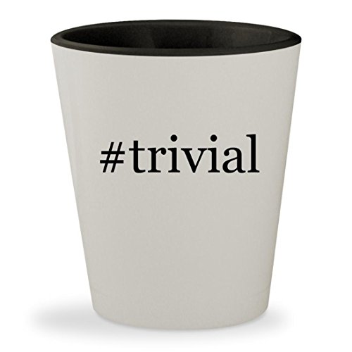 Price comparison product image #trivial - Hashtag White Outer & Black Inner Ceramic 1.5oz Shot Glass
