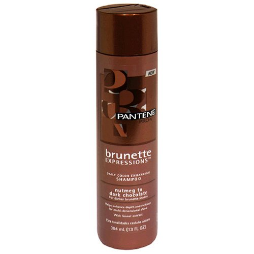 Density Enhancing Shampoo - Pantene Pro-V Brunette Expressions Daily Color Enhancing Shampoo for Darker Brunette Shades, Nutmeg to Dark Chocolate, 13 fl oz (384 ml)