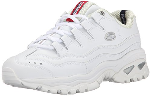 Skechers Sport Women's Energy Sneaker,White/Millennium,8.5 M US (Best Skechers For Walking On Concrete)