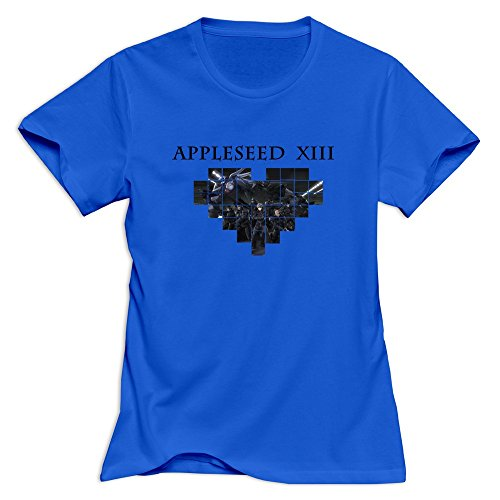 Appleseed XIII Crazy O-Neck RoyalBlue Tshirts For Women's Size XL