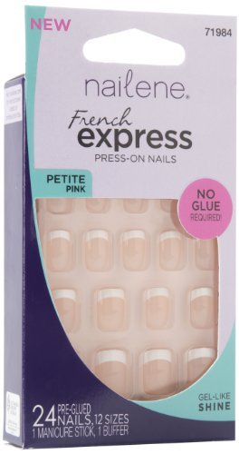 Amazon.com : Nailene French Express Ready to Wear Nails Petite Pink Fuzzy by Nailene : Beauty