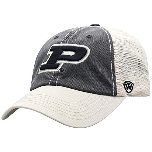 Top of the World Adult Unisex's Offroad Snapback Mesh Back Adjustable Hat, Purdue Boilermakers Black, One Size