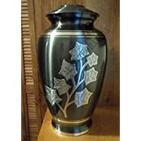 """Metal Forever MEMORIAL FUNERAL CREMATION URN FOR ADULT HUMAN ASHES, 10"""" SIZE, CEMETERY PRODUCTS UK"""