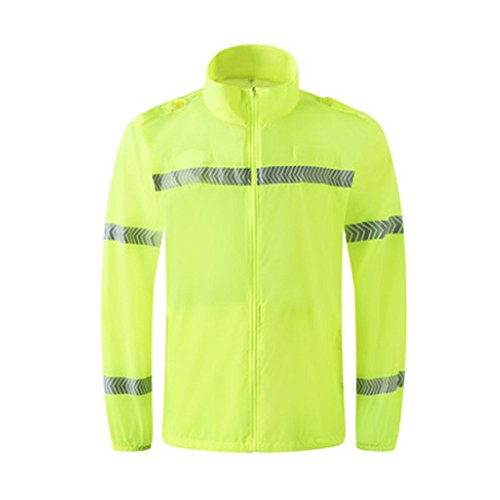 Hogear Sun UV Protection Hi Vis Reflective Long Sleeve Shirt Safety Workwear,S by Hogear