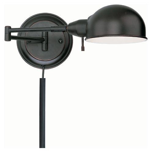 Aged 1 Light Copper (Lite Source LS-16753AGED/CP Rizzo Swing-Arm Wall Lamp, Aged Copper)