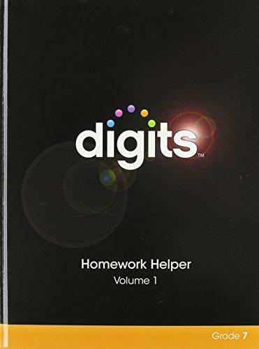 DIGITS HOMEWORK HELPER VOLUME 1 GRADE 7