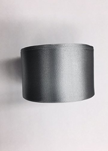 2'' Wide Single Face Satin Ribbon, Selling Per Roll/25 yards in Silver (2' Wide Satin)