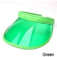 KLNOC Sombrero para El Sol Verano Unisex para Mujer Sombrero para El Sol Transparente Vacío Superior Plástico PVC Color del Caramelo Visera De Los Hombres Bicicleta Escalada Gorra De Conducción