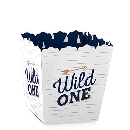 He's a Wild One - Party Mini Favor Boxes - 1st Birthday Party Treat Candy Boxes - Set of 12 ()