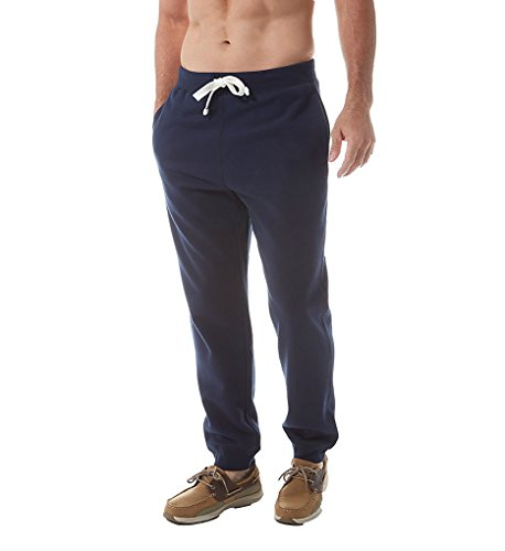 Nautica Men's Knit Jogger with Graphic Logo, Navy, Medium