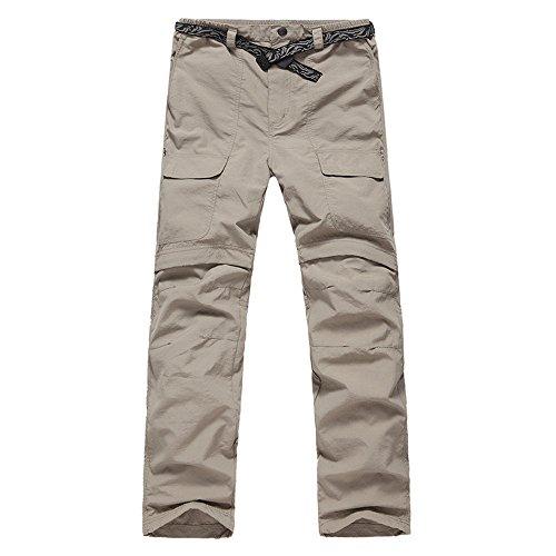 (LANBAOSI Men's Hiking Lightweight Quick Dry Convertible Mountain Cargo Pants)