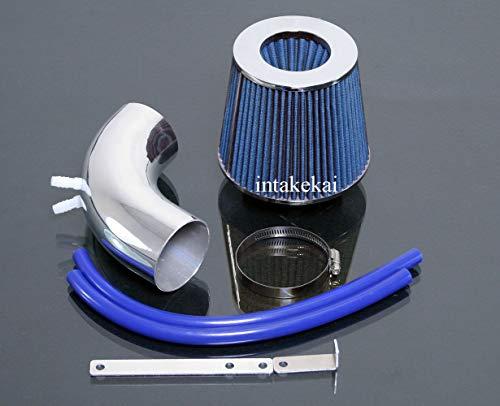 PERFORMANCE SHORT RAM AIR INTAKE KIT FOR 2010 2011 HYUNDAI GENESIS COUPE 2-DR 2.0 2.0L TURBOCHARGED ENGINE (BLUE) ()