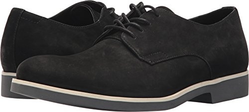 Calvin Klein Men's Faustino Nubuck Oxford, Black, 8 M M US by Calvin Klein