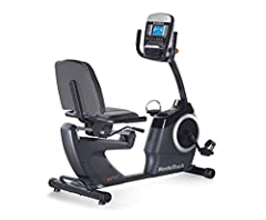 Keep your focus on your training. The gx 4.7 recumbent bike offers a back-supporting chair-like seat and in-handle controls that let you adjust your workout without taking your hands off the grips. A powerful self-adjusting fan cools you whil...