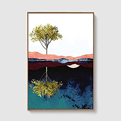 Delightful Piece, Framed Home Artwork Nordic Style Abstract Color for Living Room Bedroom, Classic Artwork