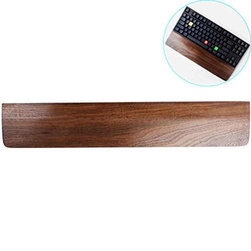 ZZ Lighting Creative Mechanical Keyboard Holder Solid Wooden Hand Pad, Wrist Pad, Palm Rest (Black Walnut, 60-Key)