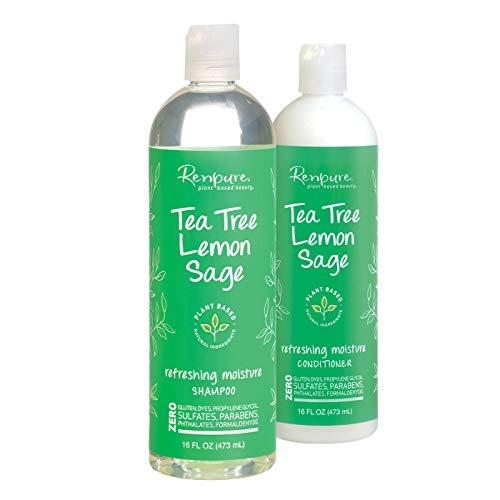Renpure - Tea Tree Lemon Sage Refreshing Moisture Shampoo and Conditioner - 16 fl oz Each