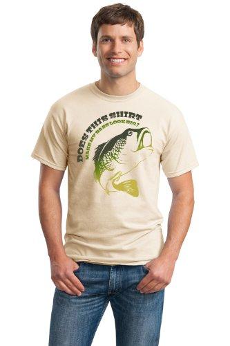 JTshirt.com-19899-DOES THIS SHIRT MAKE MY BASS LOOK BIG? Unisex T-shirt / Funny Fishing Joke-B009B1BWHE-T Shirt Design