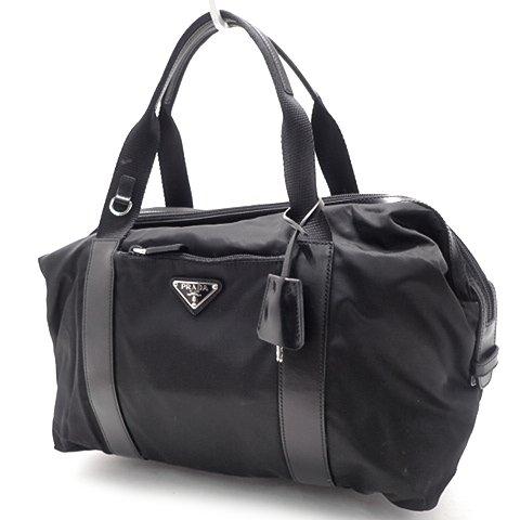 PRADA(プラダ) ハンドバッグ 鞄 かばん トートバッグ ナイロン NERO ブラック クロ 黒 シルバー金具 BR3699 18011097【中古】【アラモード】 B07CRX9Z2P