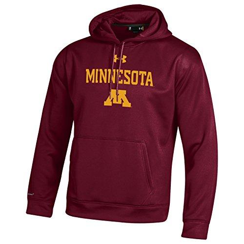 Under Armour NCAA Minnesota Golden Gophers Men's Fleece Hoodie, Medium, Maroon