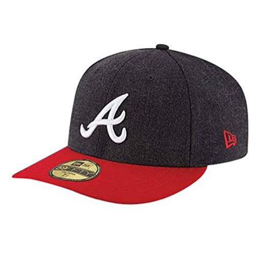 MLB Atlanta Braves Change Up Low Crown 59FIFTY Fitted Cap, 7 3/8, Navy