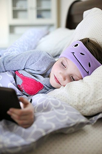 CozyPhones Kids Headphones - Super Comfortable and Soft Fleece Headbands. Perfect for Travel and Home - from CozyPhones - PURPLE FROGGY