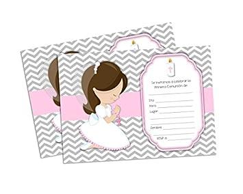 f35efc578 Amazon.com  First Holy Communion Invitations for Girl. Invitaciones ...