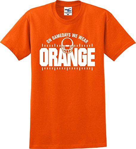 Tennessee Volunteers Fans On Gamedays We Wear Orange Football T-Shirt (S-3X) (XXXXX-Large, Orange) -